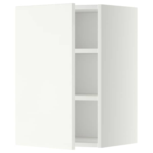 METOD Wall cabinet with shelves, white/Häggeby white, 40x37x60 cm