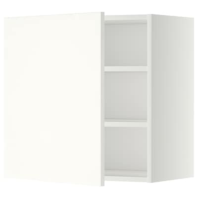 METOD Wall cabinet with shelves, white/Häggeby white, 60x37x60 cm