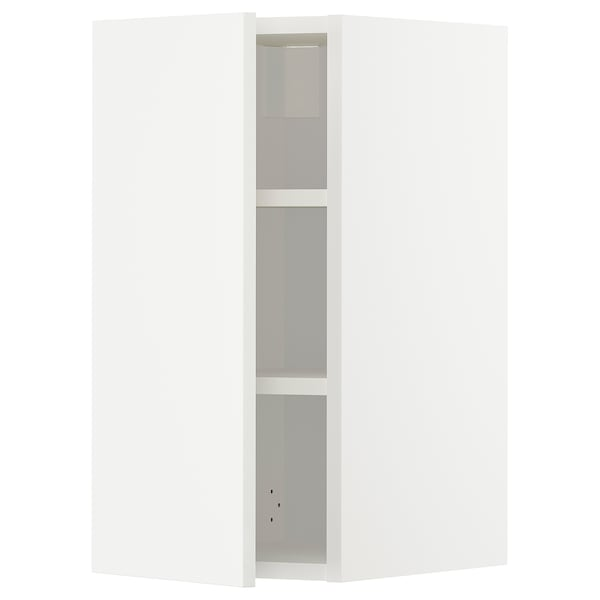 METOD Wall cabinet with shelves, white/Häggeby white, 30x37x60 cm