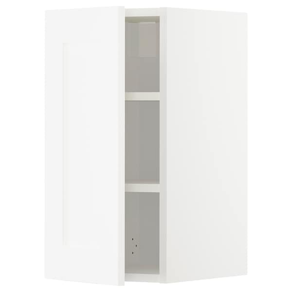 METOD Wall cabinet with shelves, white/Sävedal white, 30x37x60 cm