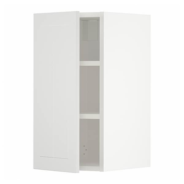 METOD Wall cabinet with shelves, white/Stensund white, 30x37x60 cm