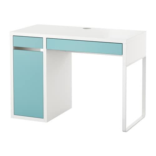 micke desk white light turquoise ikea. Black Bedroom Furniture Sets. Home Design Ideas