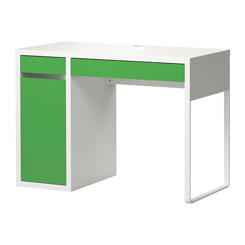 micke desk white green ikea. Black Bedroom Furniture Sets. Home Design Ideas