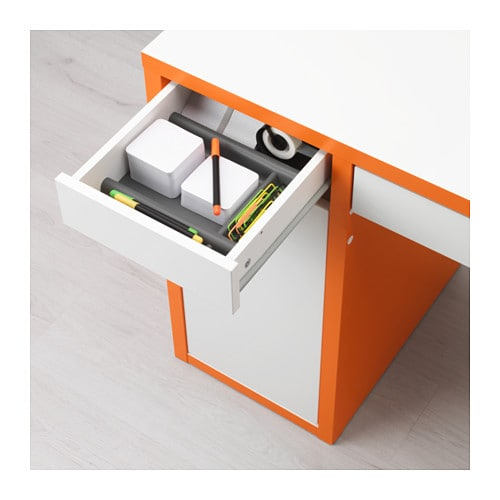 micke desk white orange ikea. Black Bedroom Furniture Sets. Home Design Ideas