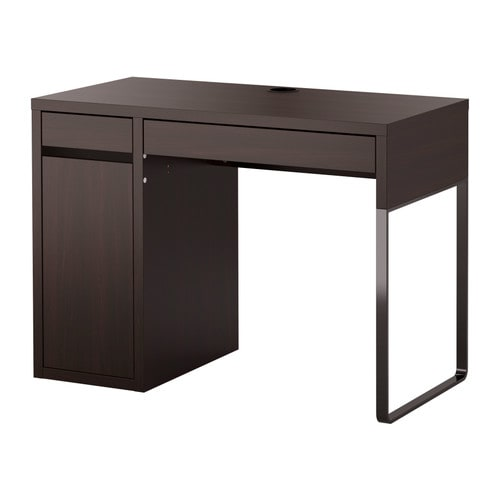 MICKE Desk IKEA It's easy to keep sockets and cables out of sight but close at hand with the cable outlet at the back.