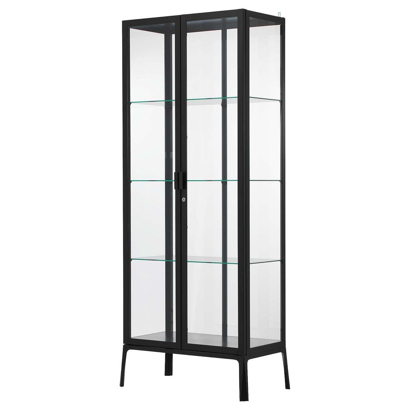 MILSBO Glass door cabinet   anthracite 20x20 cm