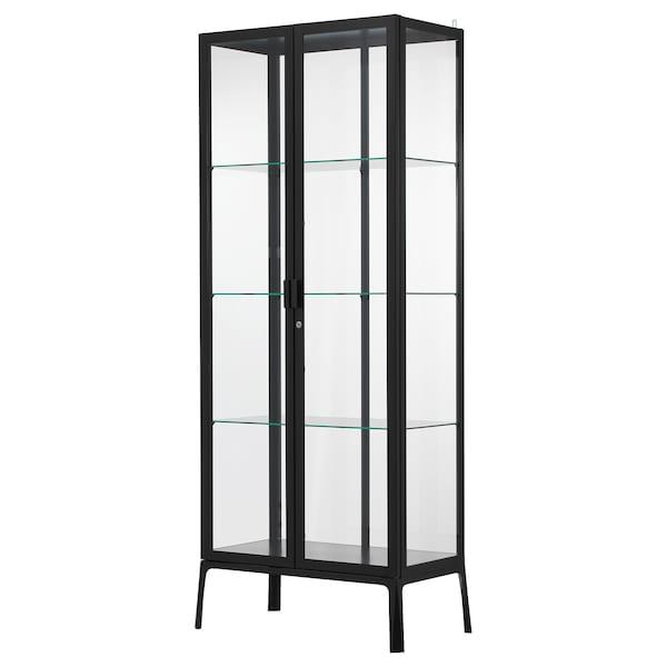 MILSBO glass-door cabinet anthracite 73 cm 42 cm 175 cm 5 kg