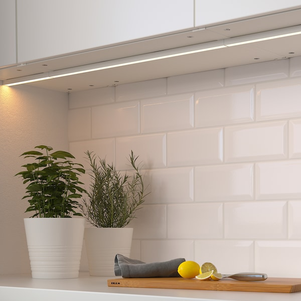 MITTLED LED kitchen worktop lighting strip, dimmable white, 20 cm