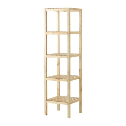 MOLGER Shelving unit IKEA The open shelves give an easy overview and easy reach.