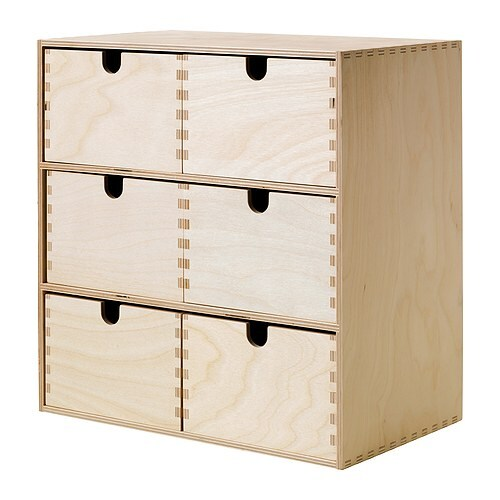 MOPPE Mini chest of drawers IKEA Helps you organise everything from paper, USB sticks and rechargers to make-up and accessories.