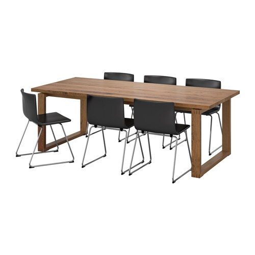 M rbyl nga bernhard table and 6 chairs ikea for Table ikea 6 99