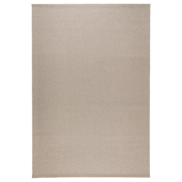 MORUM Rug flatwoven, in/outdoor, beige, 200x300 cm