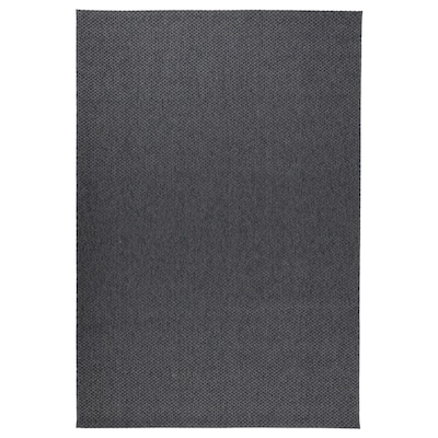 MORUM Rug flatwoven, in/outdoor, dark grey, 200x300 cm