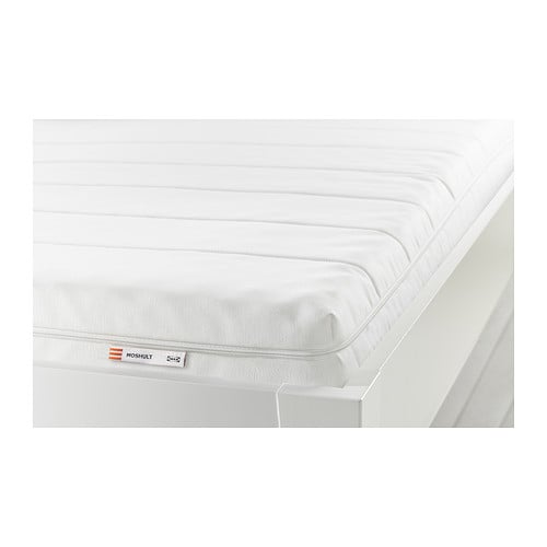 MOSHULT Foam mattress IKEA Get all-over support and comfort with a resilient foam mattress.  This mattress is approved for children.