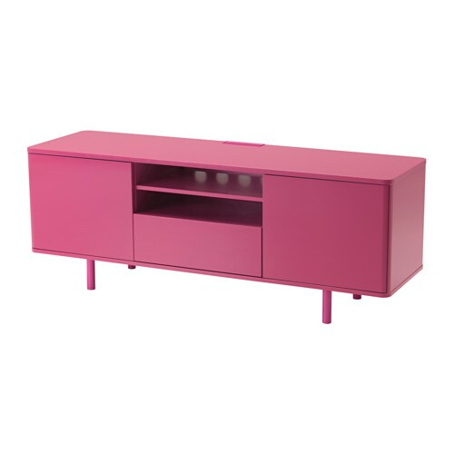 Mostorp tv bench pink ikea for Meuble 12 cases