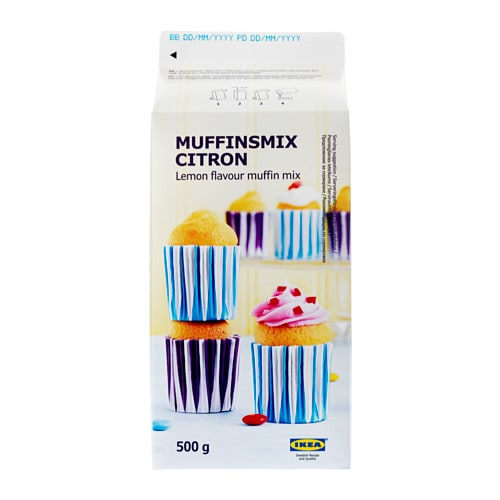 MUFFINSMIX CITRON Muffin mix lemon flavour IKEA Easy to make muffins.