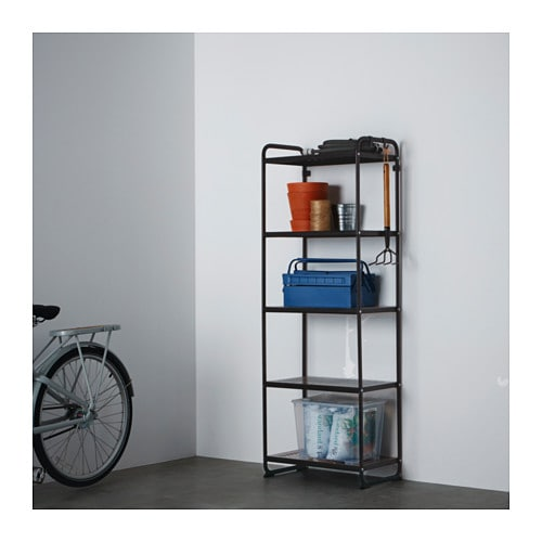 Mulig Shelving Unit Black Ikea