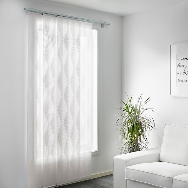 MURRUTA Panel Curtain, White, 60x300 Cm