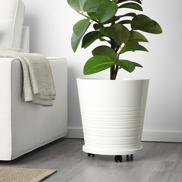 MUSKOT Plant pot, white, 32 cm