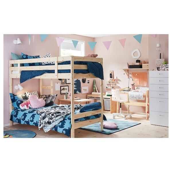 MYDAL Bunk bed frame, pine, Single