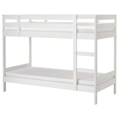 MYDAL Bunk bed frame, white, Single