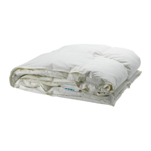 MYSA RÖNN Quilt, warmth rate 6 IKEA A thick, heavy feather quilt for you who often feel cold and prefer a warm quilt.