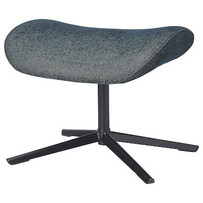 NÄTTRABY Footstool, Tallmyra black/grey