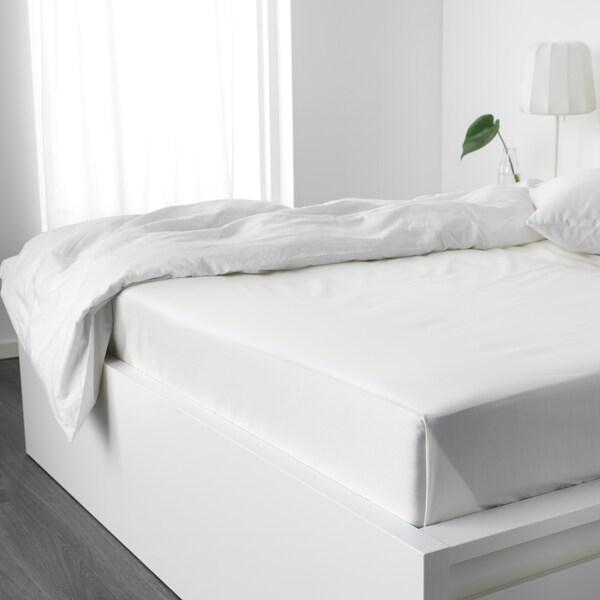 NATTJASMIN Flat sheet, white, Double/Queen