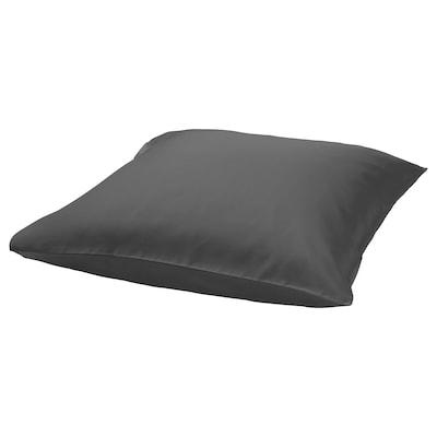 NATTJASMIN Pillowcase, dark grey, 65x65 cm