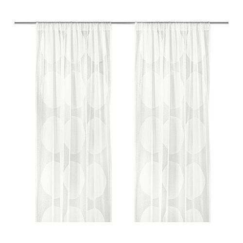 NINNI TRÅD Sheer curtains, 1 pair IKEA