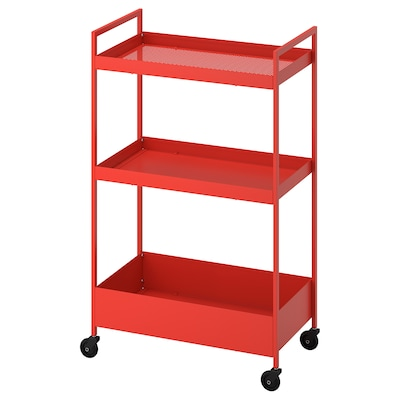 NISSAFORS Trolley, red-orange, 50.5x30x83 cm