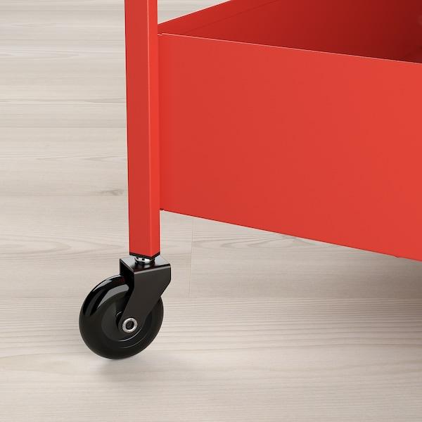 NISSAFORS Trolley, red-orange, 50.5x30x83 cm