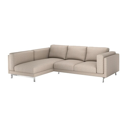 Nockeby 3 seat sofa with chaise longue with chaise for Sofa nockeby