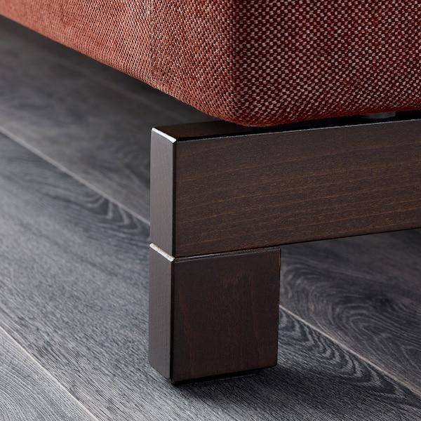 NOCKEBY Three-seat sofa, Tallmyra rust/wood