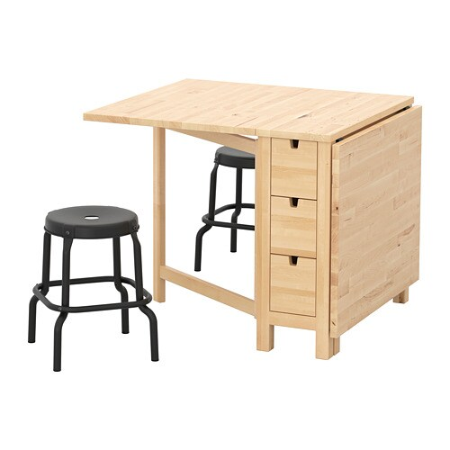 Norden r skog table and 2 stools ikea - Table ikea norden ...