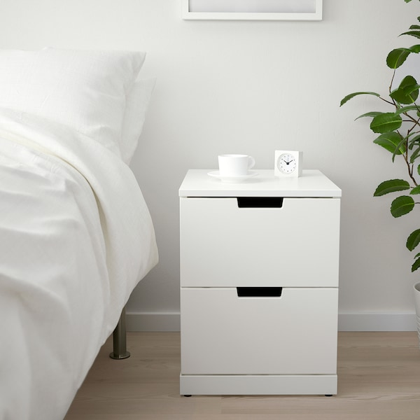 NORDLI Chest of 2 drawers, white, 40x54 cm