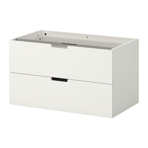 nordli modular chest of 2 drawers 80x45 cm ikea