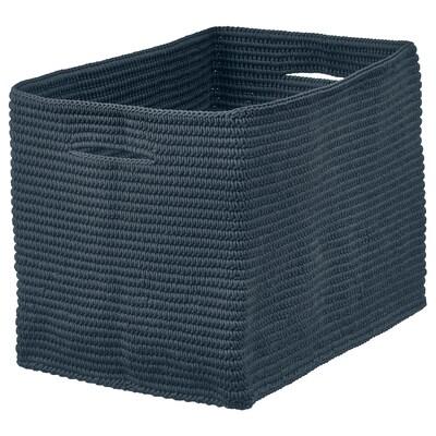 NORDRANA Basket, blue, 35x26x26 cm