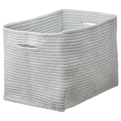 NORDRANA Basket, grey, 35x26x26 cm