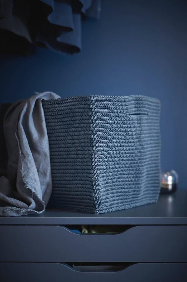 NORDRANA basket blue 35 cm 26 cm 26 cm