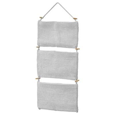 NORDRANA Hanging storage, grey, 35x90 cm