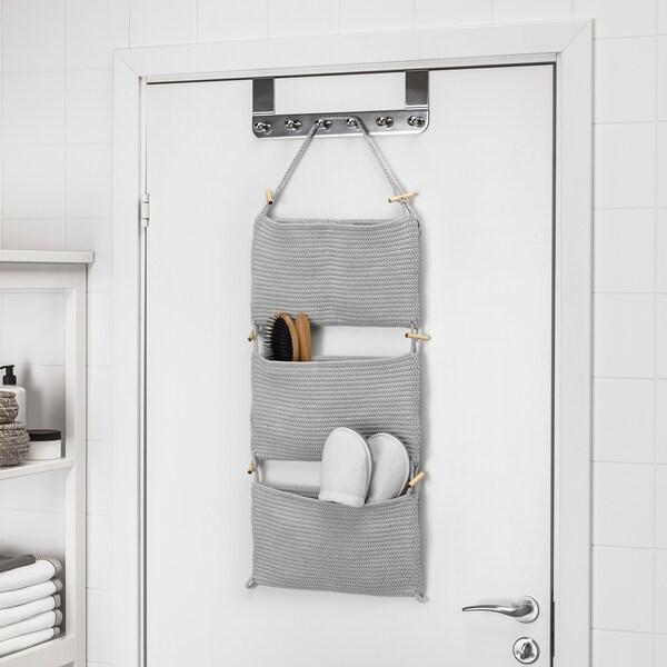 NORDRANA hanging storage grey 35 cm 90 cm