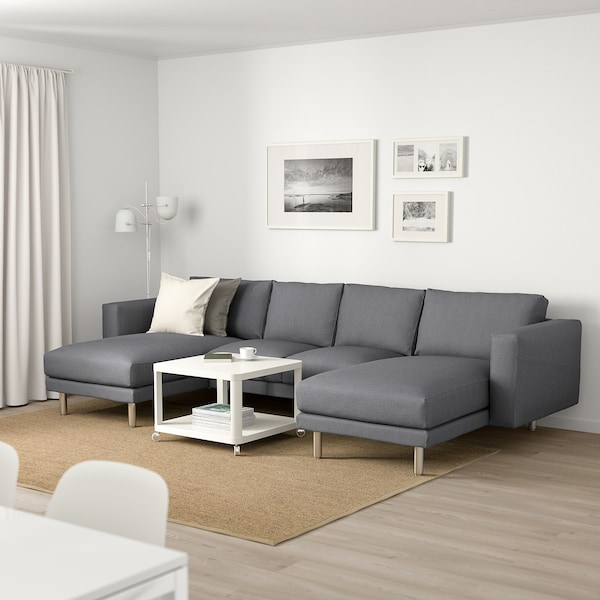 NORSBORG 4-seat sofa with chaise longues/Finnsta dark grey/metal 309 cm 85 cm 88 cm 157 cm 129 cm 18 cm 60 cm 43 cm