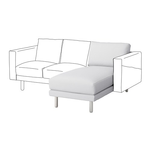 norsborg chaise longue section finnsta white metal ikea. Black Bedroom Furniture Sets. Home Design Ideas
