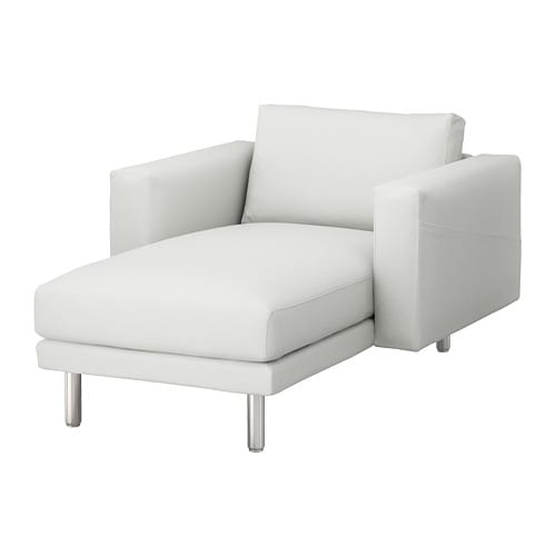 NORSBORG Chaise longue Finnsta white metal IKEA