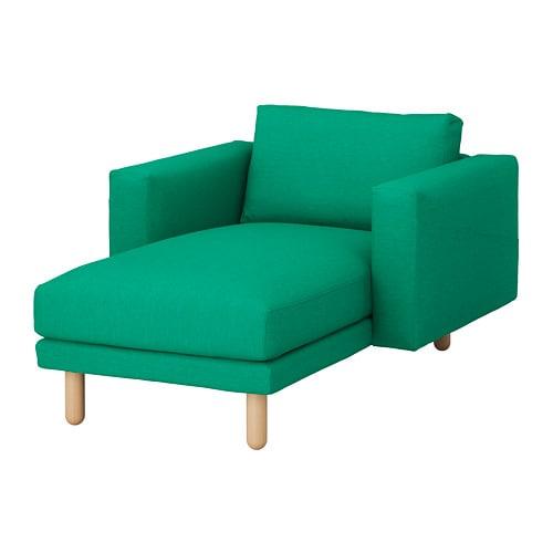 NORSBORG Chaise longue Edum bright green birch IKEA