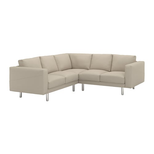 Norsborg corner sofa 2 2 edum beige metal ikea for Eckcouch beige