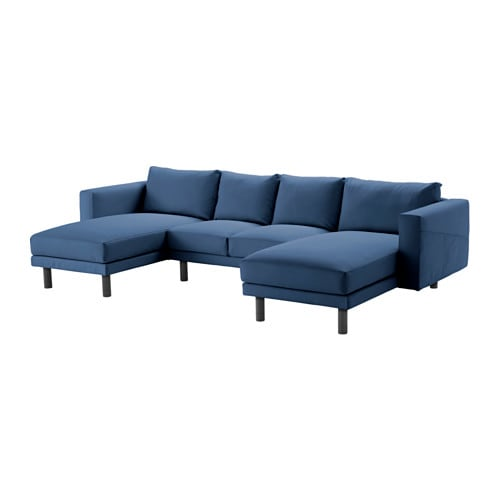 Norsborg 2 seat sofa with 2 chaise longues edum dark for 4 seat sofa with chaise