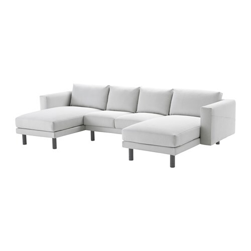 Norsborg 2 seat sofa with 2 chaise longues finnsta white for 4 seat sofa with chaise