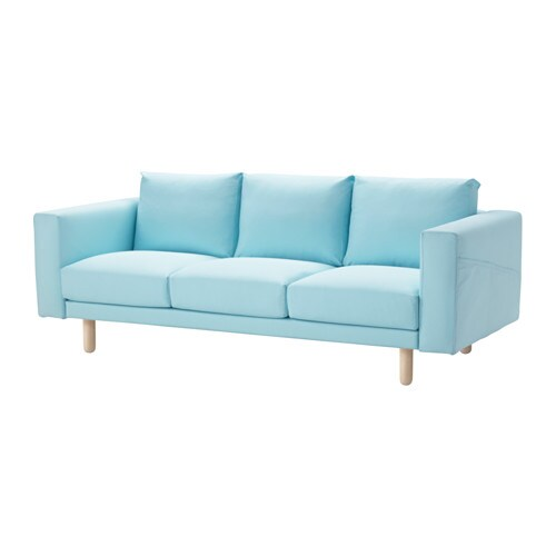 norsborg three seat sofa edum light blue birch ikea. Black Bedroom Furniture Sets. Home Design Ideas
